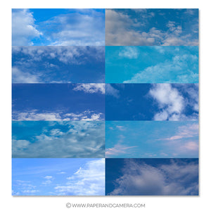 Vibrant Blue Skies Overlay Set - PicMonkey Compatible