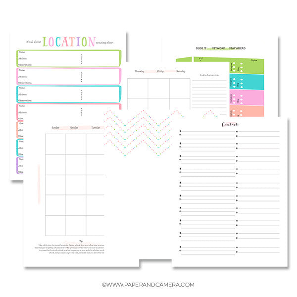 Moving Ahead Printable Workflow Organizer & Planner