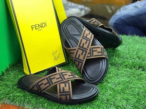 Fendi Cross Pattern Sandals