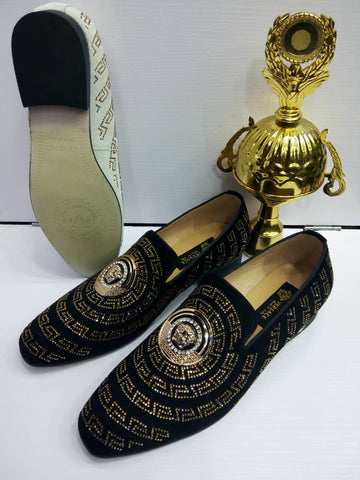 Mens Designed Patent Shoes