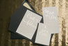 Real Wedding: Carli and Addison | Black Tie Pocket Folder Wedding Invitations with Gold Foil!