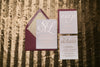 Real Wedding: Lauren and Sean | On Trend Wine and Gold Foil Fall Wedding Invitations