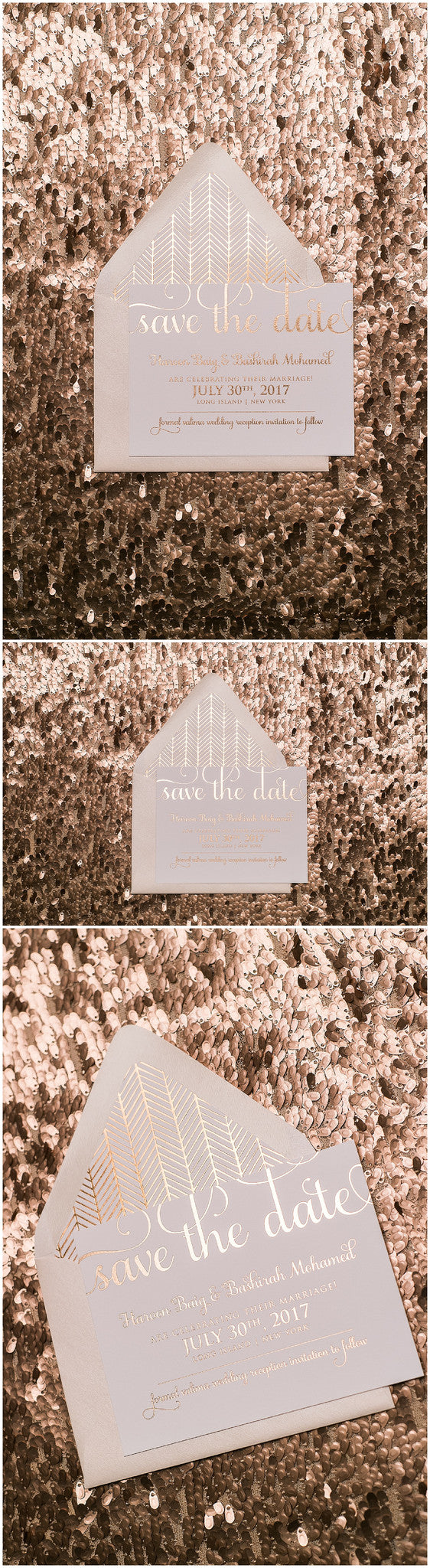 Rose Gold Glitter Wedding Invitations, Rose Gold, Rose Gold Foil, Save the Date Invitations, Adele Suite, Rose Gold Patterned Invitations, Boho Save the Date Wedding Invitations, Blush, Blush and Rose Gold, Wedding Invitations, Just Invite Me