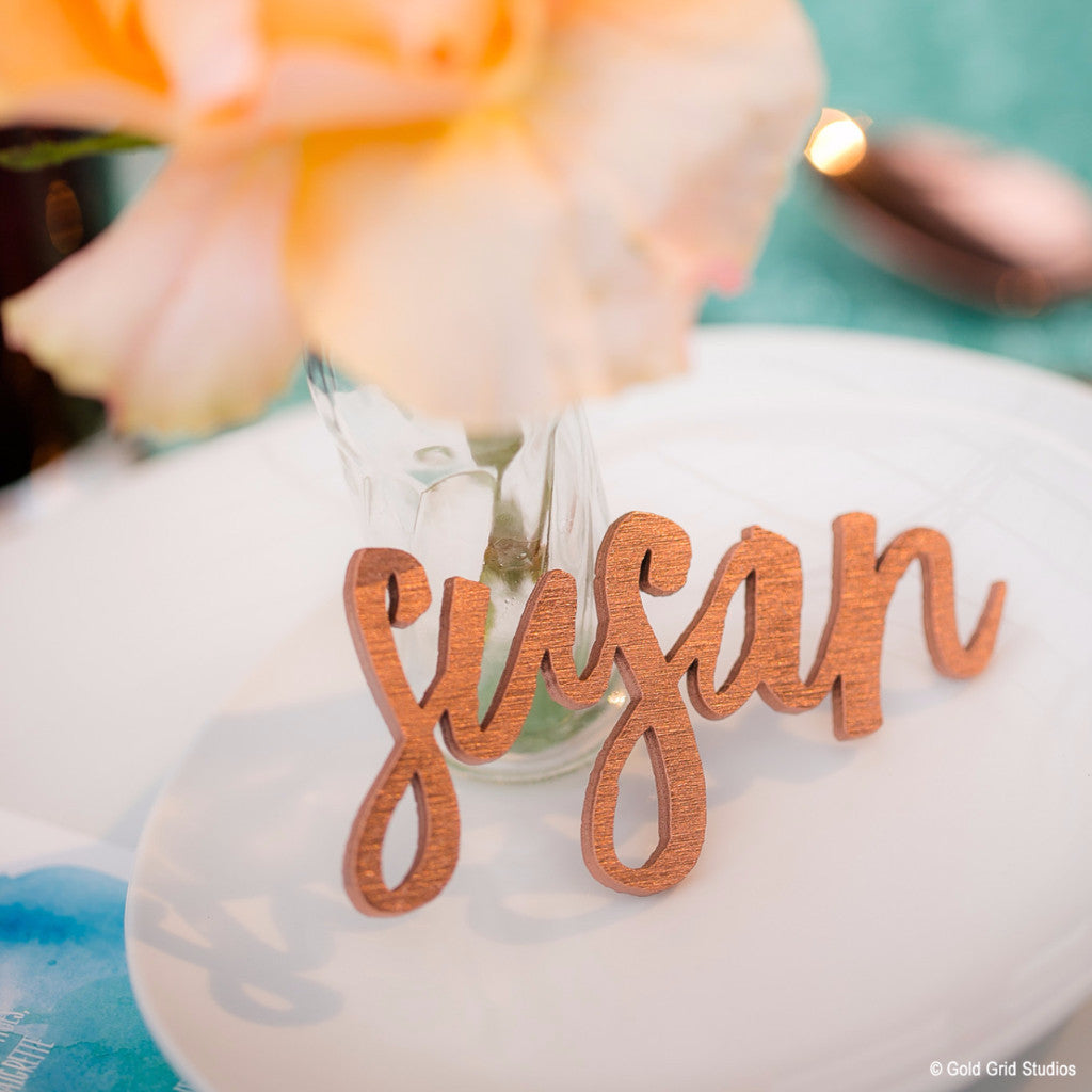 EXTRAS // Laser Cut Escort Names