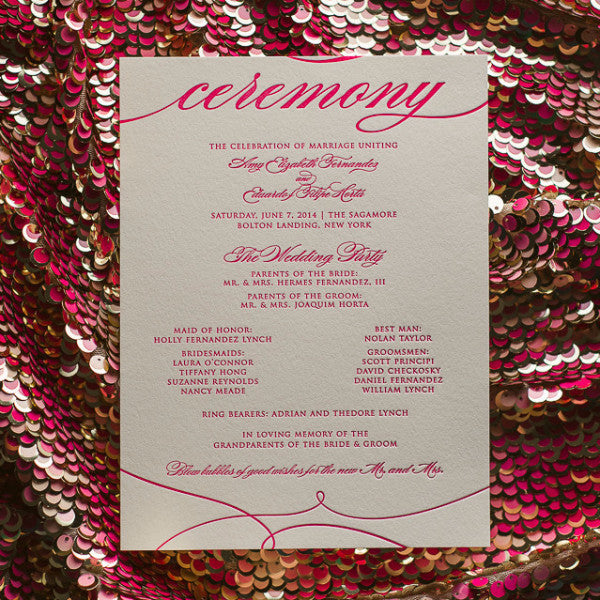 EXTRAS // Ceremony Programs for Any Suite!