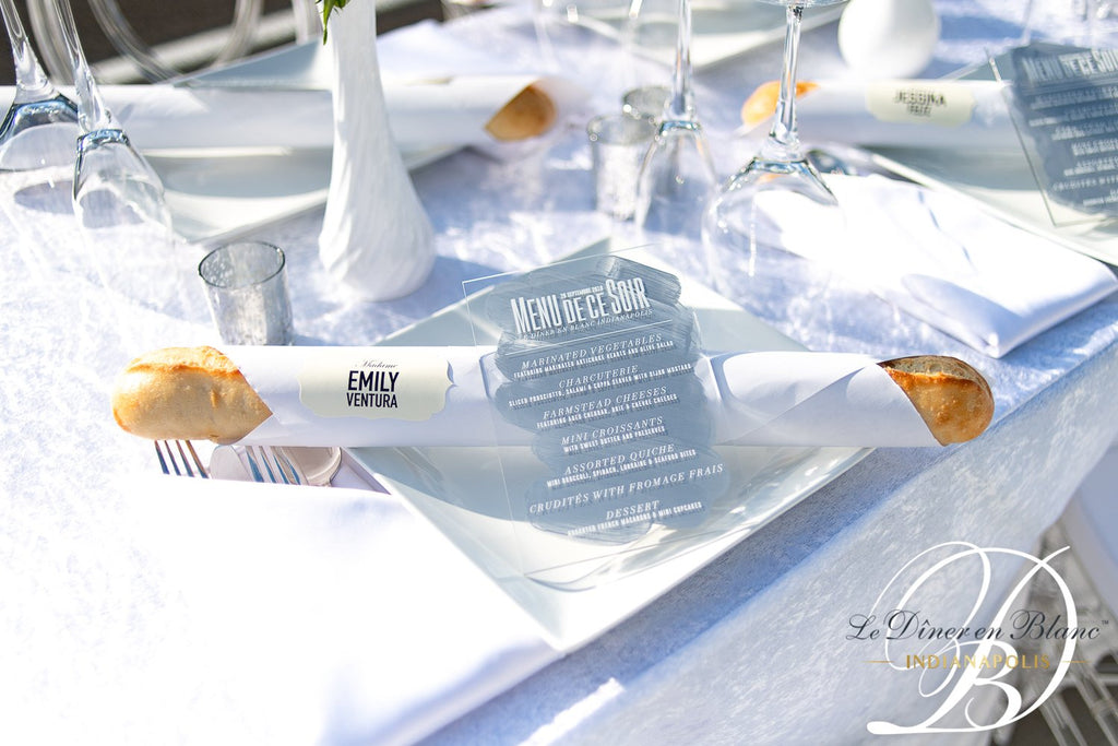 EXTRAS // Acrylic Menus for Any Suite!