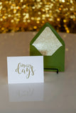 Trendy Holiday Cards // Merry Days