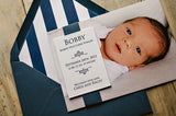 Traditional Photo + Letterpress Birth Announcement