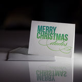 Funny Holiday Cards // Dudes - LETTERPRESS