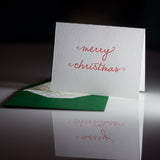 Trendy Holiday Cards // Red Merry Christmas - LETTERPRESS
