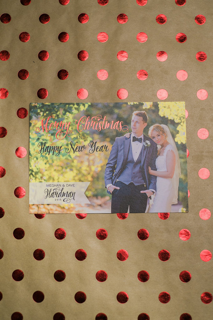 Foil + Photo Holiday Cards