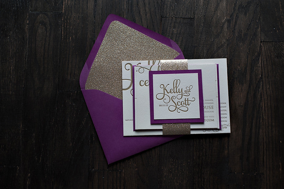 Envelope Liners // GLITTER // 4BAR, A2, A7, Square, A9