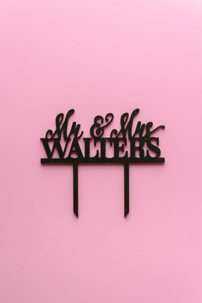 EXTRAS // Custom Laser Cut Cake Topper