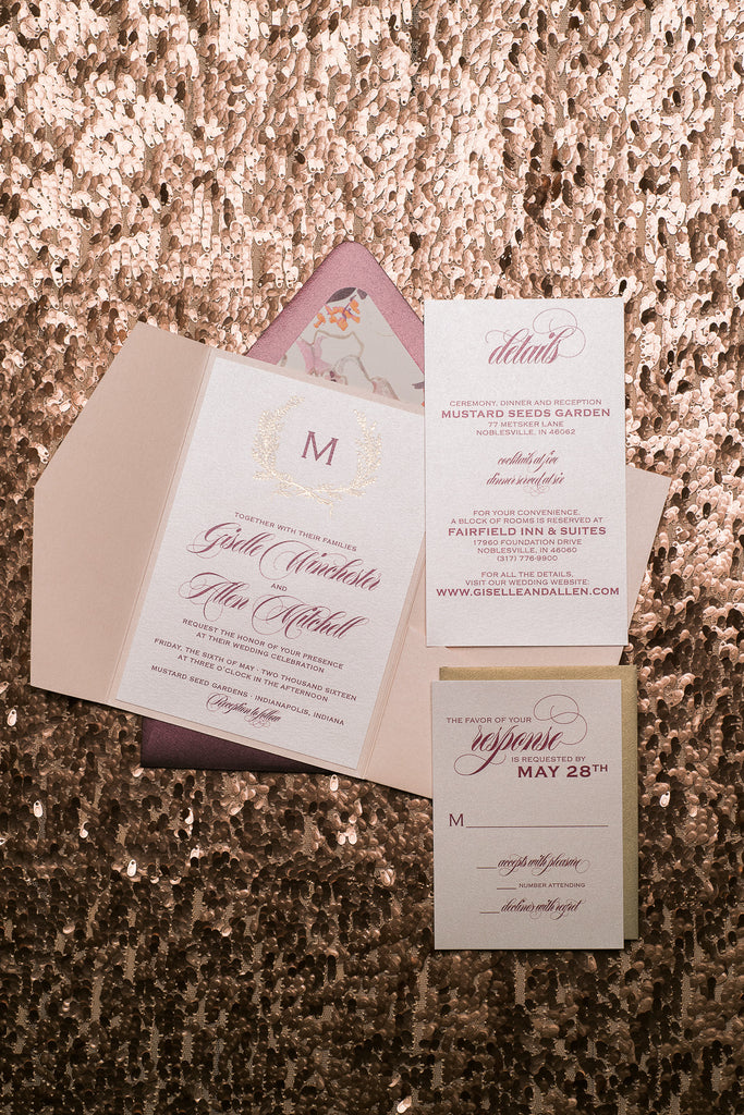 GISELLE Suite // STYLED // Floral Pocket Folder Package