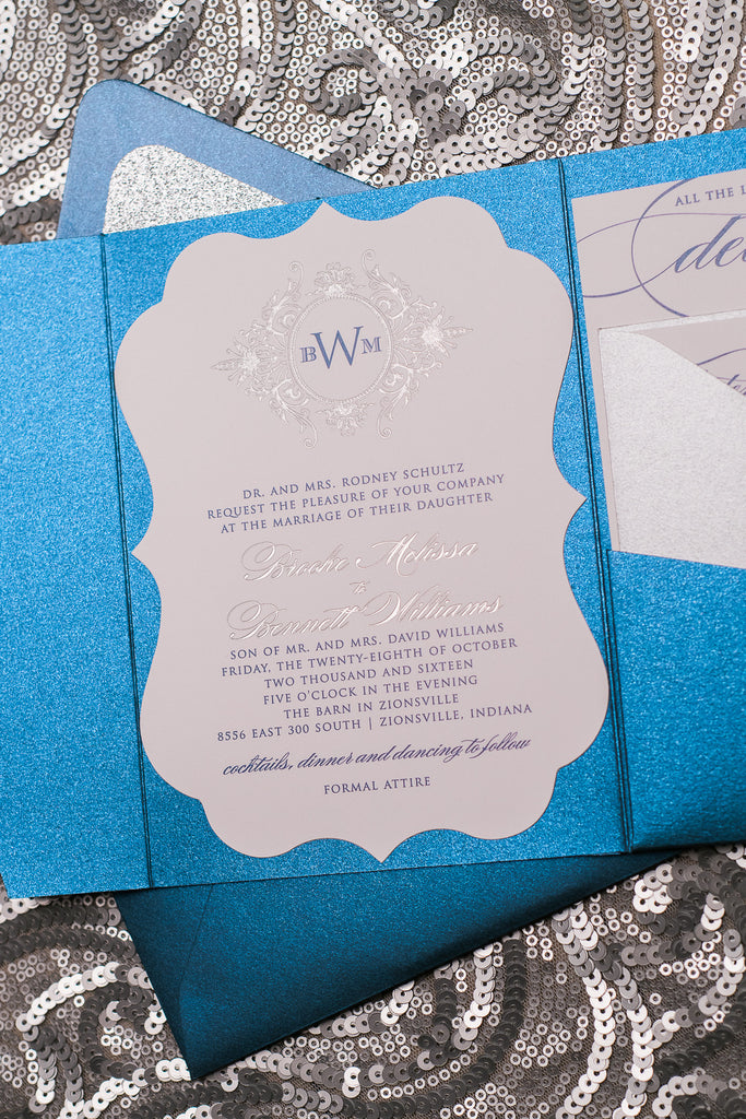 ABIGAIL Suite // STYLED // Ornate Glitter Pocket Folder Package