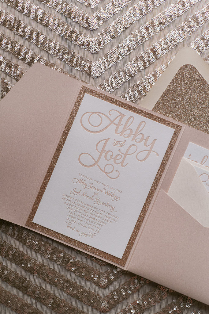 ADELE Suite // STYLED // Glitter Pocket Folder Package