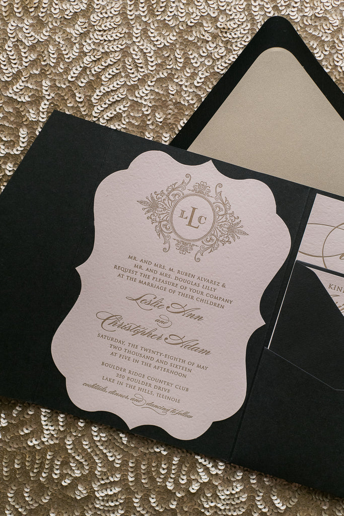 ABIGAIL Suite // STYLED // Ornate Lace Pocket Folder Package