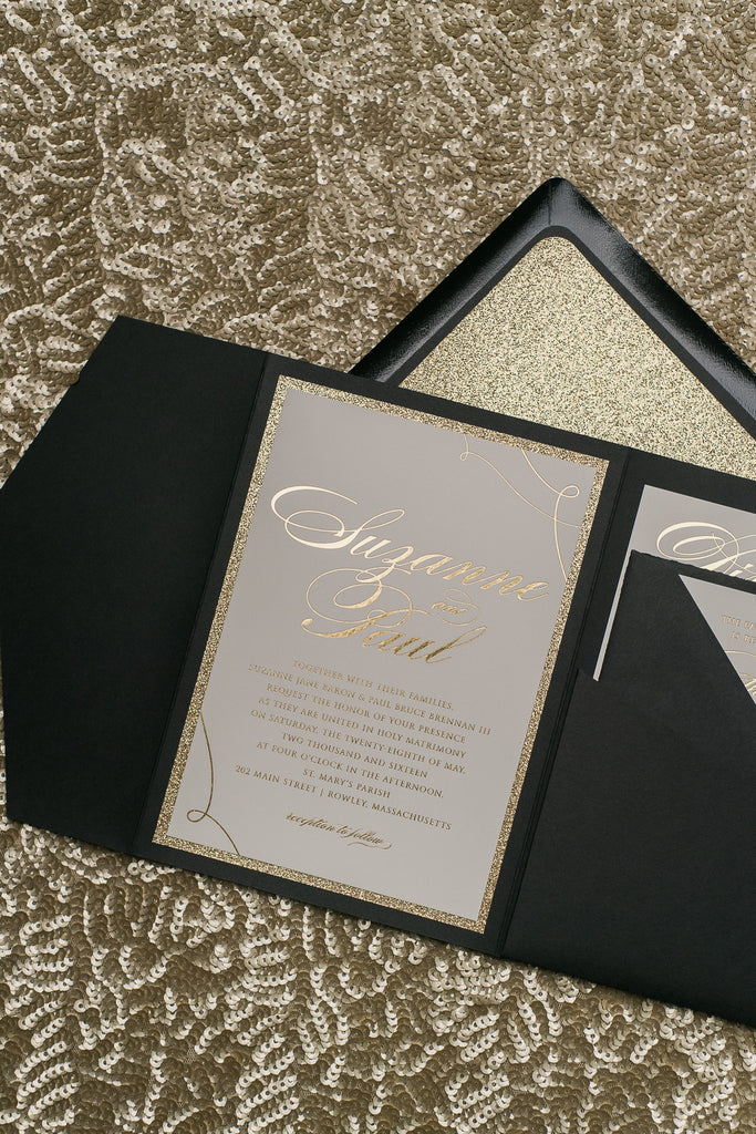 LAUREN Suite // STYLED // Glitter Pocket Folder Package