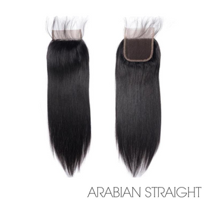 "LACE CLOSURE 4X4"" - ARABIAN STRAIGHT"