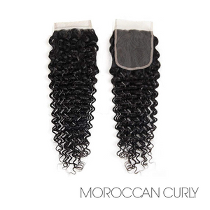 "LACE CLOSURE 4X4"" - MOROCCAN CURLY"