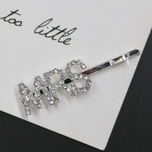 Load image into Gallery viewer, Crystal Letter Hair Clips