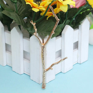 Gold Branch Hair Clip