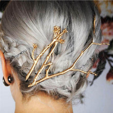 Load image into Gallery viewer, Gold-Branch-Hair-Clip