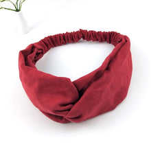 Load image into Gallery viewer, Solid Color Wrap Turban Headband
