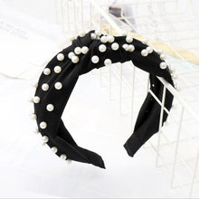 Load image into Gallery viewer, Pearls Rule The World Pearl Turban Headband