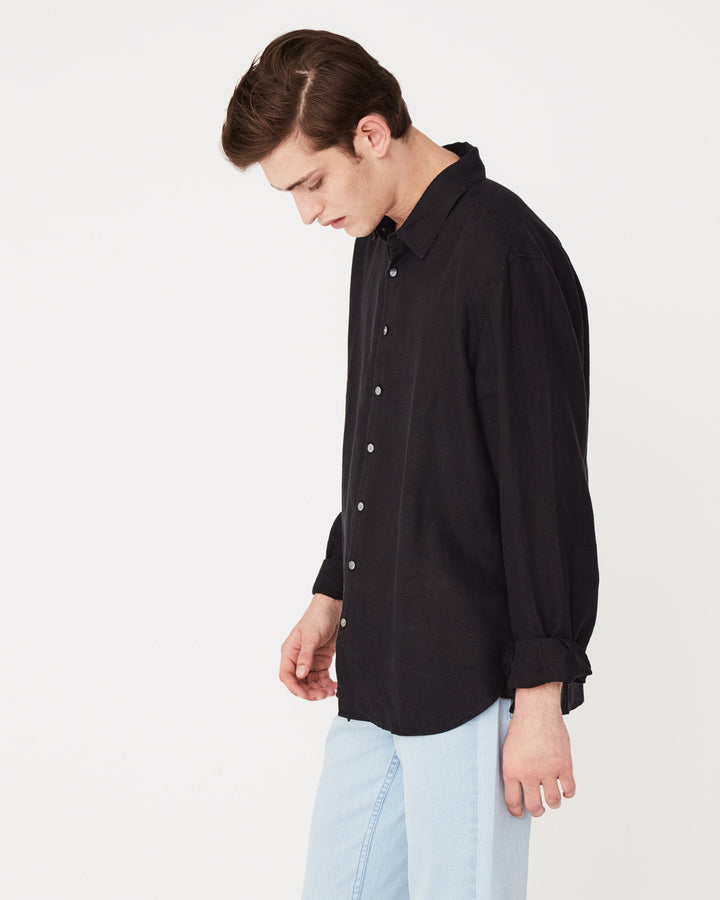 Assembly Label Casual Longsleeve Shirt Black Side View