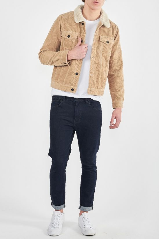A BRAND - A Sherpa Denim Jacket Sandy Cord
