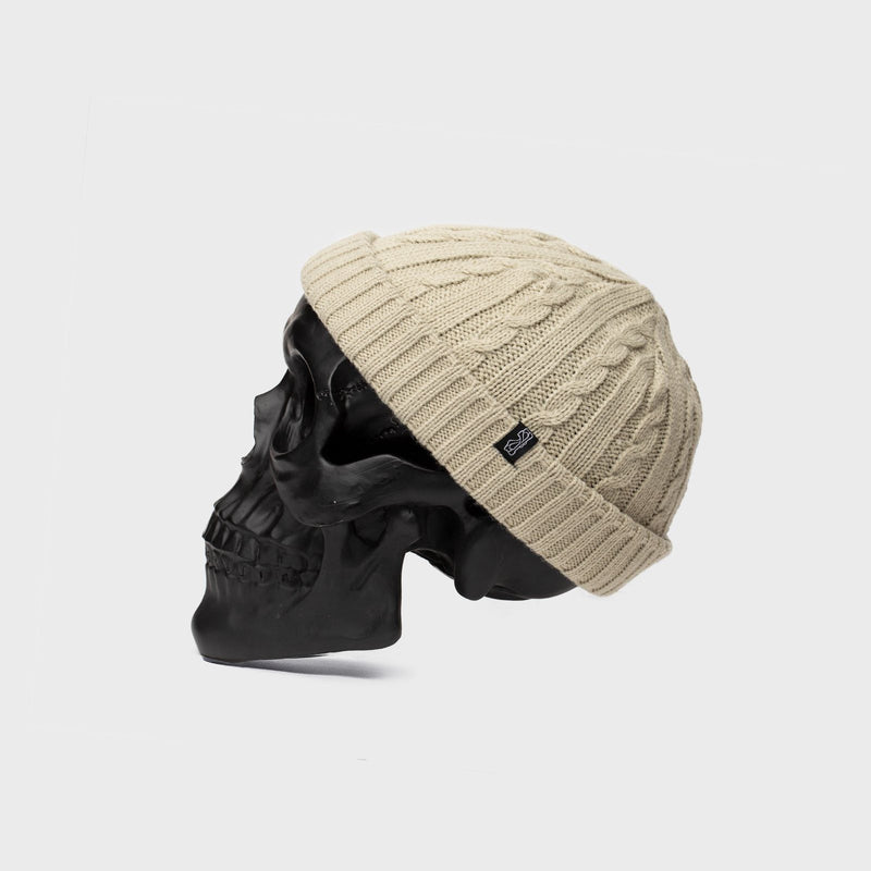 BILLY BONES - Fisherman Knit Beanie Vanilla Cream