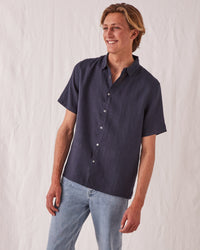 ASSEMBLY - Casual S/S Shirt True Navy