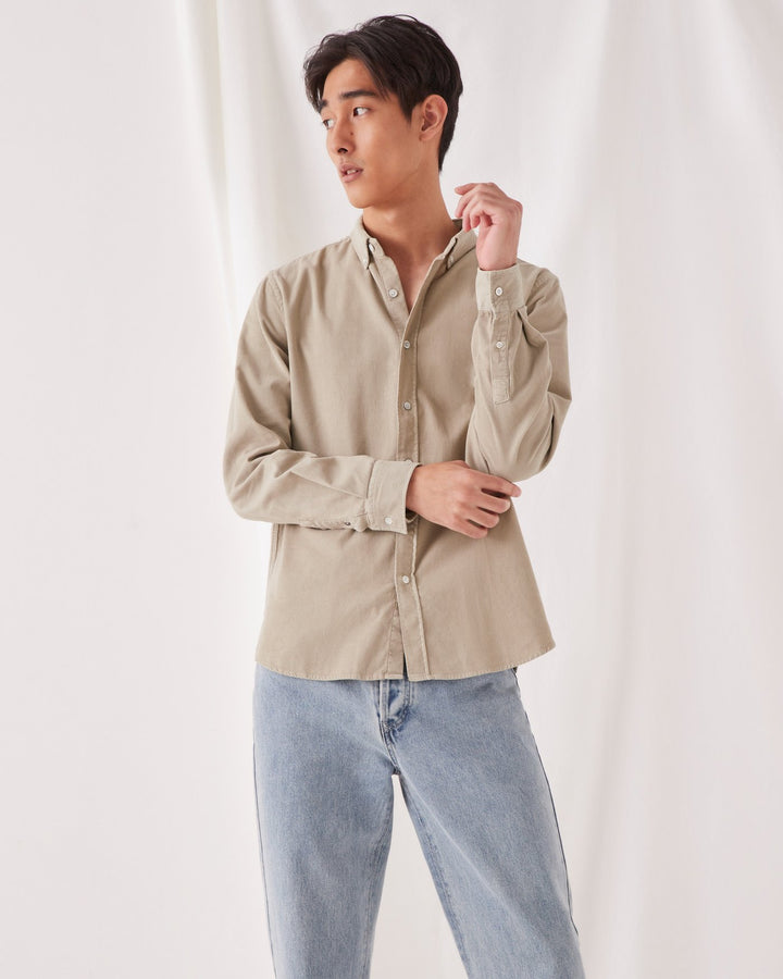 ASSEMBLY - Cord Shirt Washed Khaki