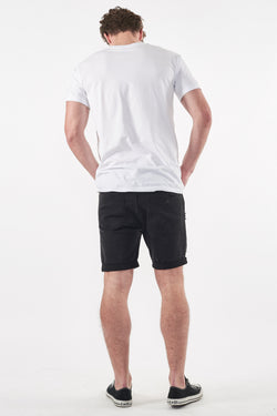 A Brand A Dropped Skinny Short Blackout Back View