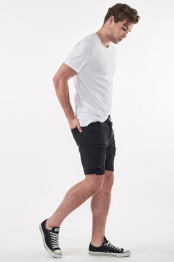 A Brand A Dropped Skinny Short Blackout Side View