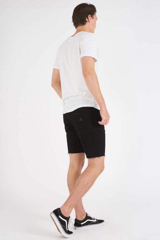 A BRAND - A Dropped Skinny Short Black Sky