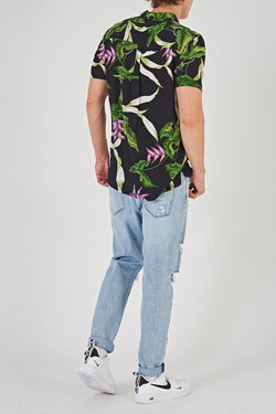 A BRAND - A Resort Shirt Jungle Drum Black