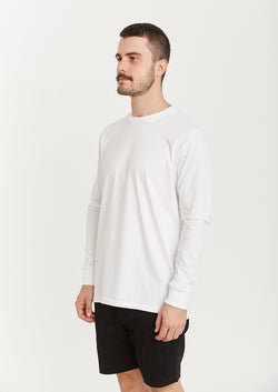 QUAY - Basic L/S Tee White
