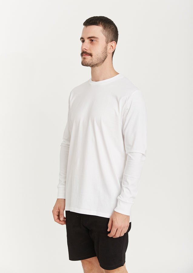 Quay Basic Longsleeve Tee White Side View