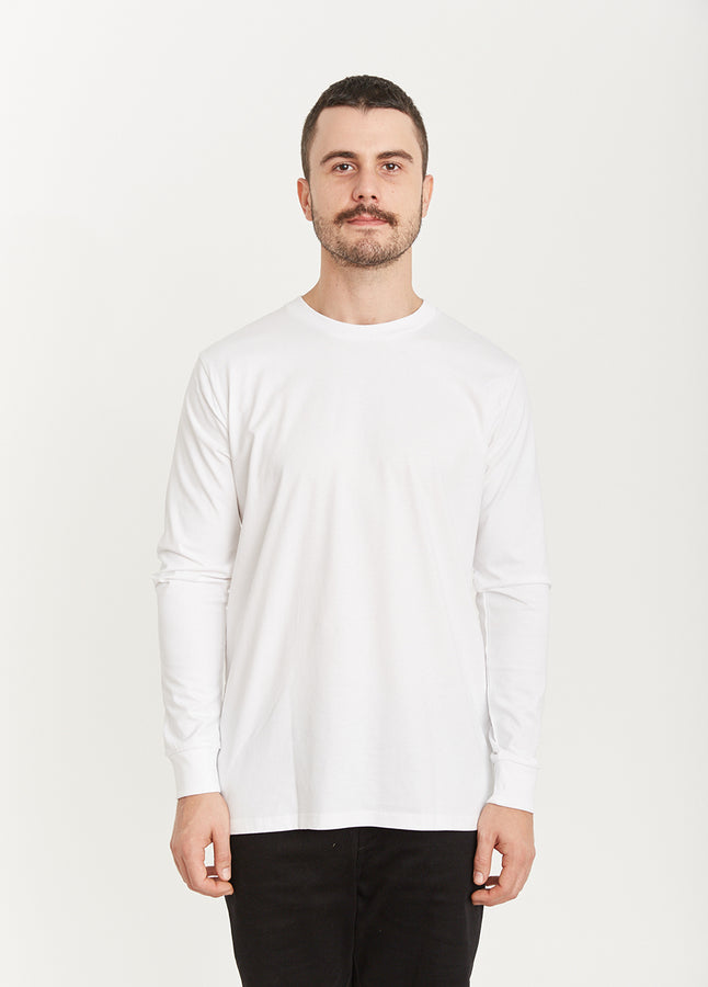 Quay Basic Longsleeve Tee White Front View
