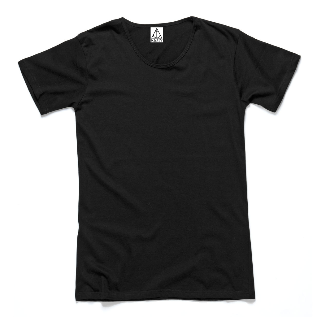QUAY - Basic Scoop Tee Black