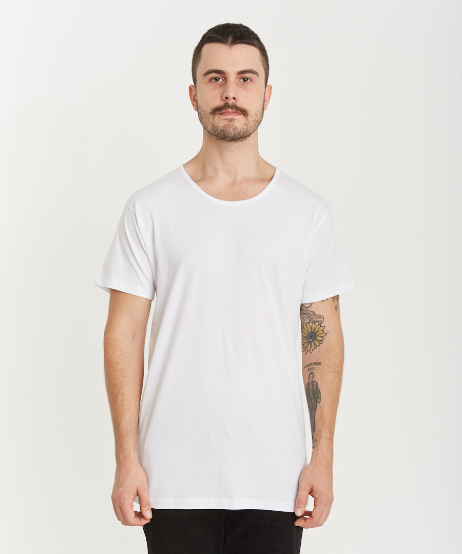 QUAY - Basic Scoop Tee White