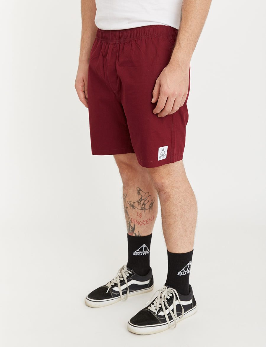 QUAY - Beach Short Maroon