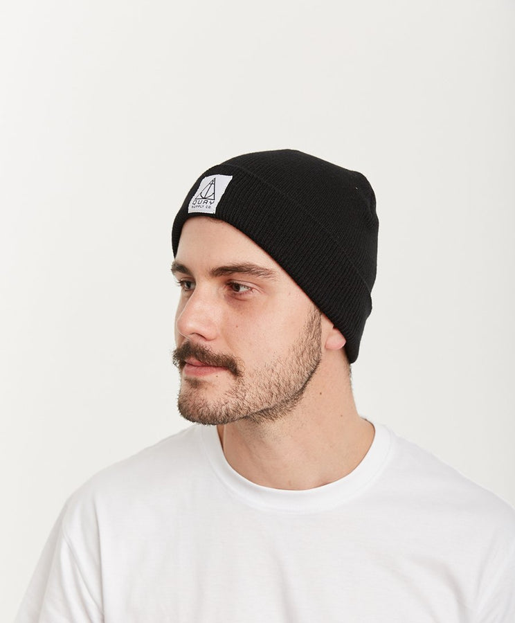 Quay Beanie Black Side View