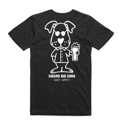 "QUAY - ""Cheers"" Reg Tee Black"