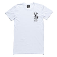 "QUAY - ""Cheers"" Tall Tee White"