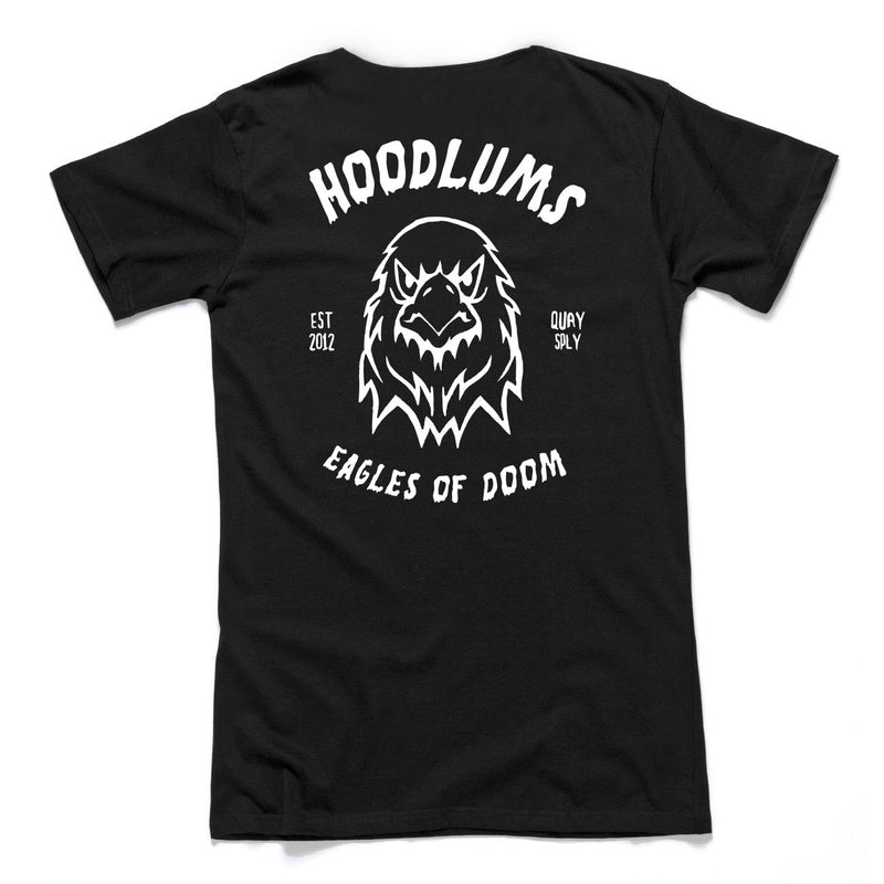 "QUAY - ""Hoodlums Eagle"" Scoop Tee Black"