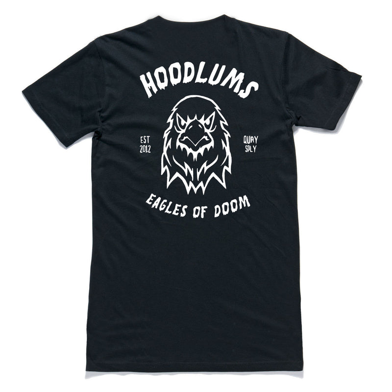 "QUAY - ""Hoodlums Eagle"" Tall Tee Black"