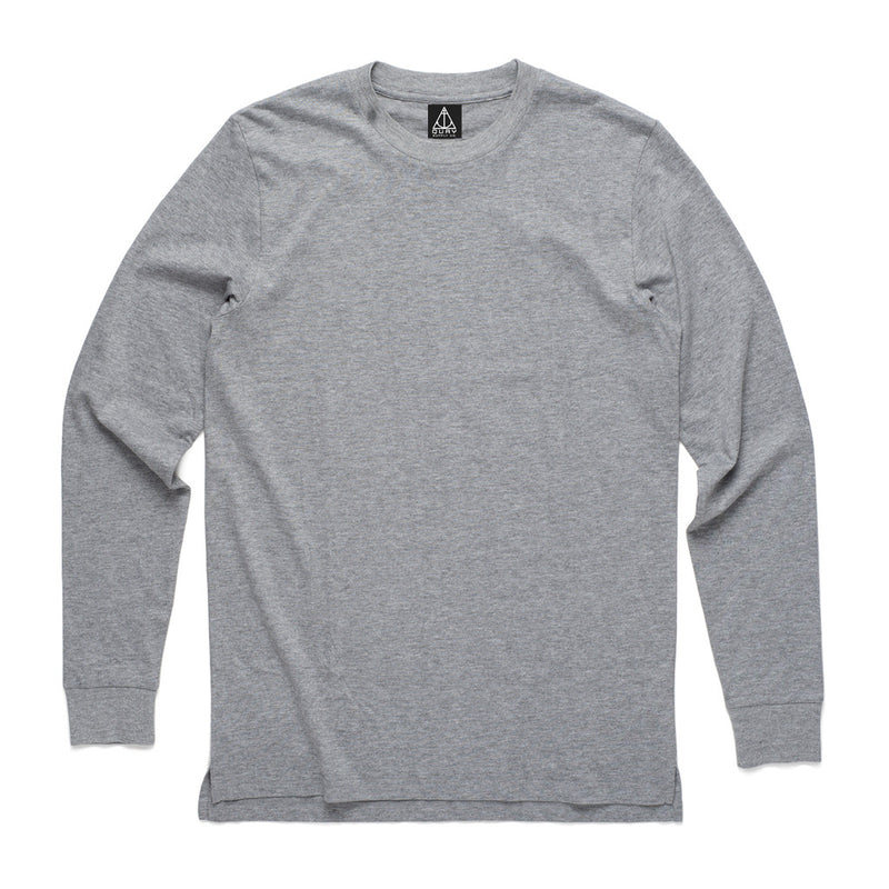 Quay Basic Longsleeve Tee Grey Front View